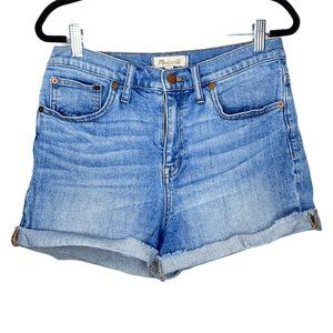 Madewell Denim Shorts Blue High Rise Rollable